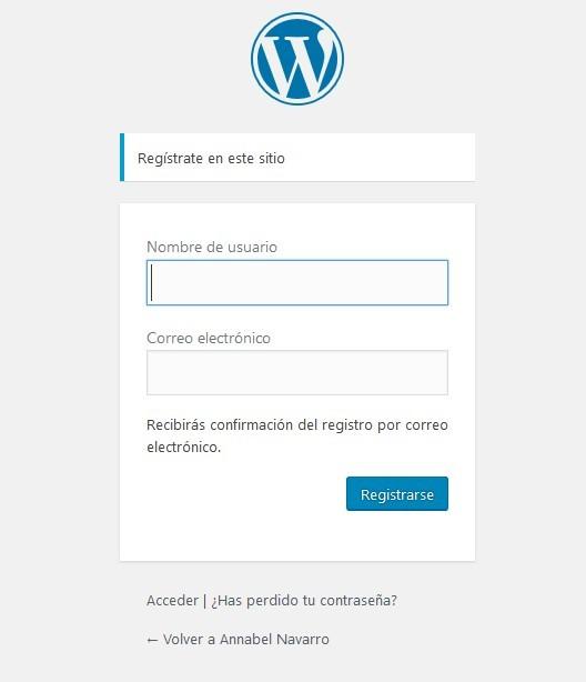 registro wp