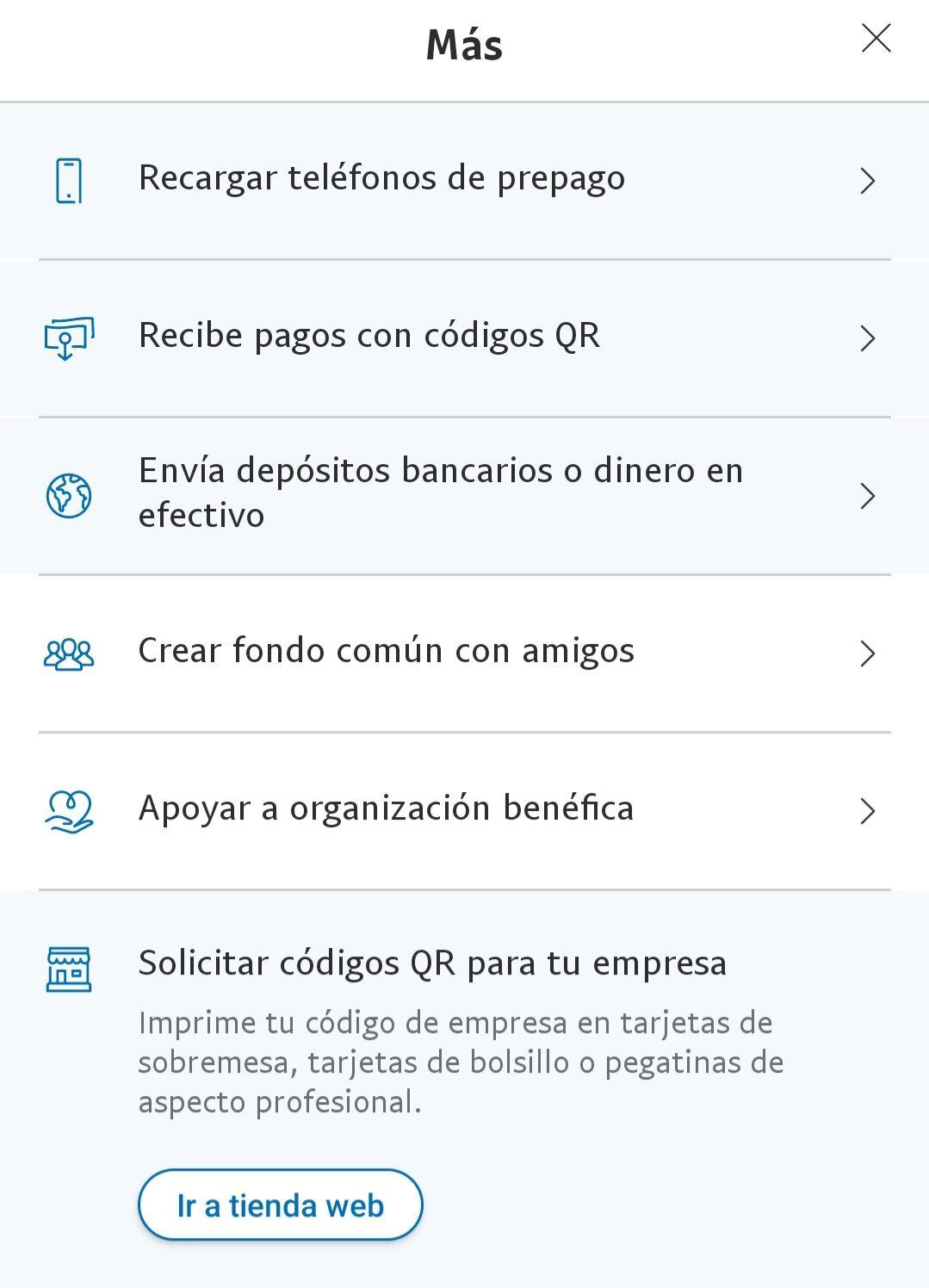 paypal aplicación